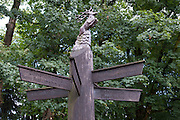 Wegweiser bei Jagdhaus Gabelbach bei Stützerbach, Goethe-Wanderweg, Thüringer Wald, Thüringen, Deutschland | sign post near Jagdhaus Gabelbach near Stützerbach, Thuringia forest, Thuringia, Germany
