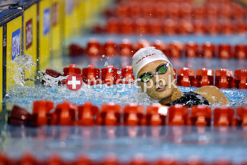 Aleksandra URBANCZYK of Poland is pictured during a turn in the women's 200m individual medley (IM) heats on day one at the European Short-Course Swimming Championships at the Maekelaenrinne Swimming Centre in Helsinki, Finland, Thursday December 7, 2006. (Photo by Patrick B. Kraemer / MAGICPBK)