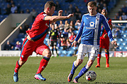Chesterfield midfielder Dion Donohue on the ball during the EFL Sky Bet League 1 match between Chesterfield and Rochdale at the Proact stadium, Chesterfield, England on 25 March 2017. Photo by Aaron  Lupton.