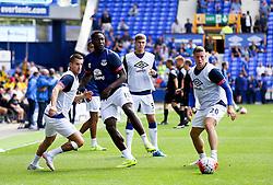 Everton's Romelu Lukaku warms up with his team mates - Mandatory byline: Matt McNulty/JMP - 07966386802 - 08/08/2015 - FOOTBALL - Goodison Park -Liverpool,England - Everton v Watford - Barclays Premier League