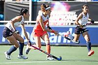 BREDA -Eva de Goede (Ned) met  tijdens de finale  Nederland-Japan (8-2) van de 4 Nations Trophy dames 2018 . COPYRIGHT KOEN SUYK