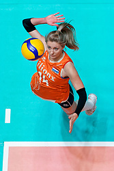 11–01-2020 NED: Semi Final Olympic qualification tournament women Germany - Netherlands, Apeldoorn<br /> First semi final match Germany - Netherlands 3-0 / Laura Dijkema #14 of Netherlands