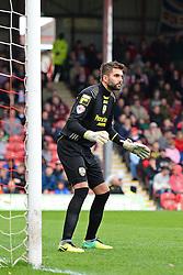Notts County's goalkeeper Bartosz Bialkowski    - Photo mandatory by-line: Mitchell Gunn/JMP - Tel: Mobile: 07966 386802 05/04/2014 - SPORT - FOOTBALL -  Griffin Park - London - Brentford v Notts County- Sky Bet League One