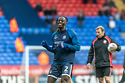 Josh Emmanuel of Bolton Wanderers warming up before the EFL Sky Bet League 1 match between Bolton Wanderers and Milton Keynes Dons at the University of  Bolton Stadium, Bolton, England on 16 November 2019.