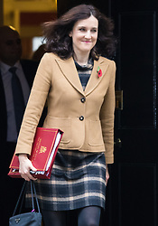 Downing Street, London, November 3rd 2015.  Northern Ireland Secretary Theresa Villiers leaves 10 Downing Street after attending the weekly cabinet meeting. /// Licencing: Paul@pauldaveycreative.co.uk Tel:07966016296 or 020 8969 6875