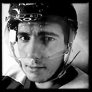 Ice Men Cometh… Ibrahim Oguz, 19, Turkey..An iPhone portrait series on young men competing in the 2012 IIHF Ice Hockey World Championships Division 3. The tournament  was contested by countries New Zealand, Iceland, China, Bulgaria and Turkey at Dunedin Ice Stadium. Dunedin, Otago, New Zealand. 17th January 2012. Photo Tim Clayton