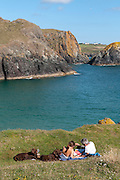 Reading at Kynance Cove