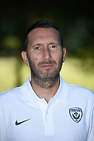Jose Martinez coach assistant of Nancy poses for a portrait during the Nancy squad photo call for the 2016-2017 Ligue 1 season on August 25, 2016 in Nancy, France<br /> Photo : Fred Marvaux / Icon Sport