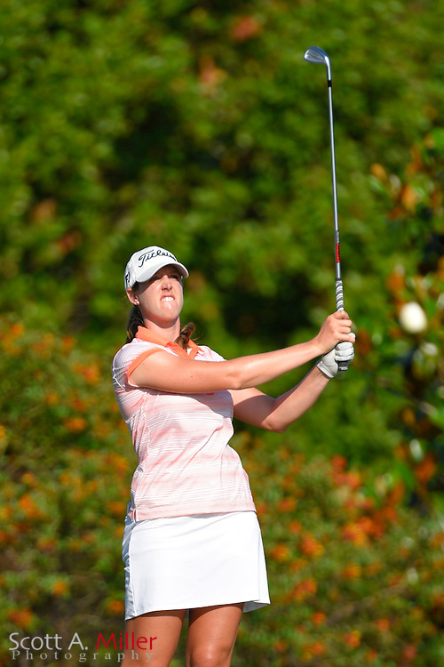 Nicole Vandermade during the final round of the Chico's Patty Berg Memorial on April 19, 2015 in Fort Myers, Florida. The tournament feature golfers from both the Symetra and Legends Tours.<br /> <br /> &copy;2015 Scott A. Miller