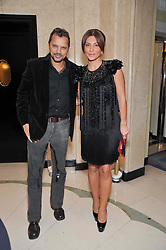 GERRY DE VEAUX and ELLA KRASNER at a dinner in honour of Dennis Basso in celebration of his new boutique in Harrods held at Claridge's, Brook Street, London on 15th October 2009.
