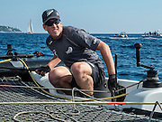 Emirates Team New Zealand skipper  Peter Burling. Day two of the Extreme Sailing Series at Nice. 3/10/2014