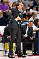 Unicaja Malaga's coach Joan Plaza during match of Liga Endesa at Barclaycard Center in Madrid. September 30, Spain. 2016. (ALTERPHOTOS/BorjaB.Hojas)