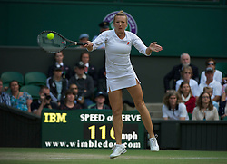 LONDON, ENGLAND - Saturday, July 2, 2011: Kveta Peschke (CZE) during the Ladies' Doubles Final match on day twelve of the Wimbledon Lawn Tennis Championships at the All England Lawn Tennis and Croquet Club. (Pic by David Rawcliffe/Propaganda)
