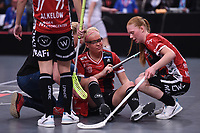 2019-04-27 | Stockholm, Sweden: during the game between KAIS Mora IF and Täby FC IBK at Ericsson Globe Arena ( Photo by: Simon Holmgren | Swe Press Photo )<br /> <br /> Keywords: Ericsson Globe Arena, Stockholm, Floorball, SM-Final, KAIS Mora IF, Täby FC IBK
