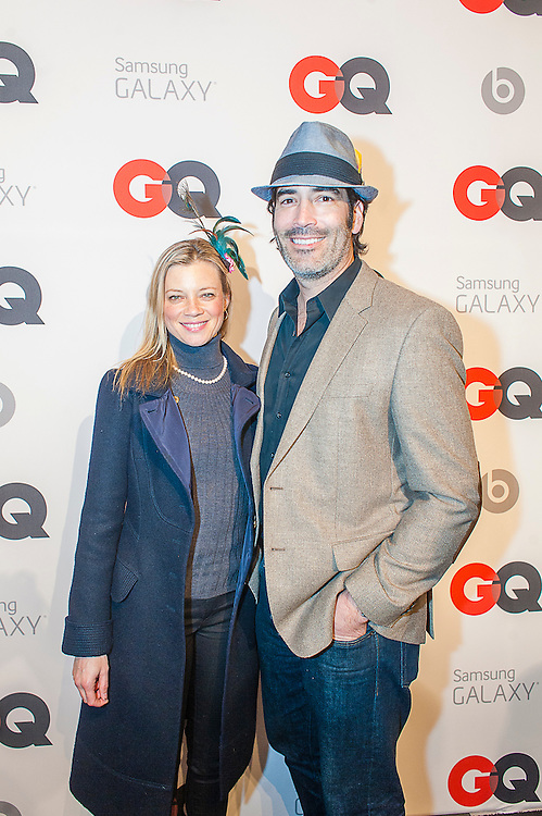Actress Amy Smart and Actor Carter Oosterhouse posing at the GQ & Lebron James NBA All Star Style party sponsored by Samsung Galaxy on Saturday, February 15, 2014, at the Ogden Museum of Southern Art in New Orleans, Louisiana with live jam session from grammy Award-winning Artist The Roots. Photo Credit: Gustavo Escanelle / Retna Ltd.