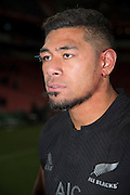 JOHANNESBURG, South Africa, 25 July 2015 : Charles Piutau of the All Blacks after the Castle Lager Rugby Championship test match between SOUTH AFRICA and NEW ZEALAND at Emirates Airline Park in Johannesburg, South Africa on 25 July 2015. Bokke 20 - 27 All Blacks<br /> <br /> © Anton de Villiers / SASPA