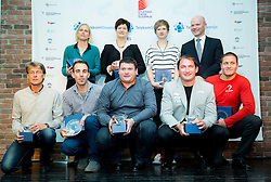 Albert Soba, Marina Tomic, Mitja Kosovelj, Martina Ratej, Andrej Hajnsek, Tina Sutej, Primoz Kozmus, Gregor Bencina and Mitja Kranjc during the Slovenia's Athlete of the year award ceremony by Slovenian Athletics Federation AZS, on November 15, 2014 in GH Primus, Ptuj, Slovenia. Photo by Vid Ponikvar / Sportida