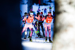 Anton Shipulin (RUS) and Evgeniy Garanichev (RUS) competes during Men 12,5 km Pursuit at day 3 of IBU Biathlon World Cup 2015/16 Pokljuka, on December 19, 2015 in Rudno polje, Pokljuka, Slovenia. Photo by Ziga Zupan / Sportida