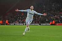 Football - 2018 / 2019 FA Cup - Third Round Replay: Southampton vs. Derby County<br /> <br /> Richard Keogh of Derby celebrates scoring the winning penalty at St Mary's Stadium Southampton <br /> <br /> COLORSPORT/SHAUN BOGGUST