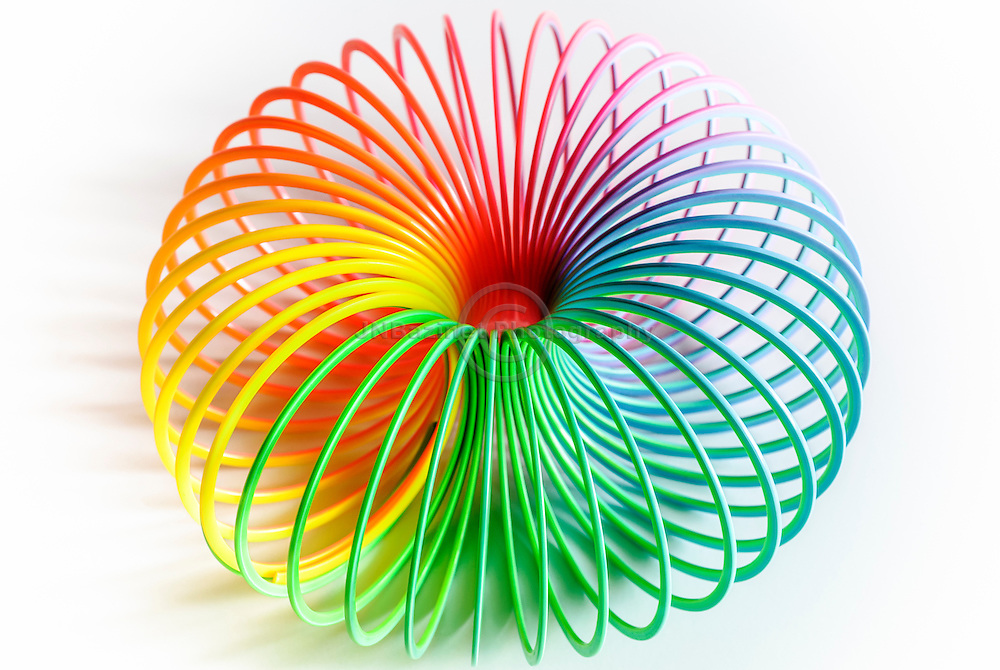 Continuum of the colour spectrum in a rounded, arching shape.
