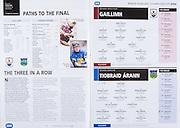 All Ireland Senior Hurling Championship Final,.03.09.2006, 09.03.2006, 3rd September 2006,.Senior Kilkenny 1-16, Cork 1-13,.Minor Tipperary 2-18, Galway 2-7.3092006AISHCF,.Galway Minor, 1 James Skehill, Cappataggle, 2 John Ryan, Craighwell, 3 Mark McMahon, 4 Aidan Moylan, Kinvara, 5 David Burke, St Thomas's, 6 Kevin Keane, Castlegar, 7 Shane Quinn, Kinvara, 8 Eoin Forde, Clarinbridge, 9 Greg Lally, Gort, 10 Aidan Harte, Gort, 11 Martin Corcoran, Meelick-Eyrecourt, 12 Laurence Tully, Ahascragh Fohenagh, 13 Sean Coen, Ballindereen, 14 Joe Canning, Portumna, 15 Ger Hennelly, Ardrahan,..Tipperary MInor, 1 John Ryan, Drom and Inch, 2 Michael Cahill, Thurles Sarsfield, 3 Padraig Maher, Thurles Sarsfield, 4 Brendan Maher, Borris Ileagh, 5 Eoin Hogan, Kilruane MacDonaghs, 6 Thomas Stapleton, Templederry, 7 John O'Keeffe, Clonoulty Rossmore, 8 Joey McLoughney, Toomervara, 9 Gearoid Ryan, Templederry, 10 Seamus Hennessy, Kilruane MacDonaghs, 11 Thomas McGrath, Ballingarry, 12 Niall Bergin, KIllenaule, 13 Patrick Bourke, Thurles Sarsfield, 14 Tony Dunne, Burgess, 15 Timmy Dalton, Arravale Rovers,