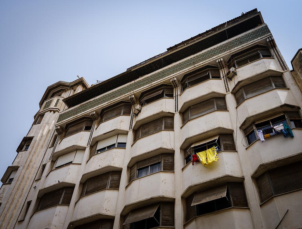 CASABLANCA, MOROCCO - CIRCA APRIL 2017: Art Deco Building  in  Casablanca