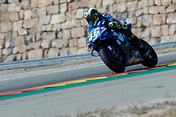 September 22, 2018 - Valentino Rossi (Movistar Yamaha MotoGP) in action during  Gran Prix Movistar the Aragón. 22-09-2018  September 22, 2018. (Credit Image: © AFP7 via ZUMA Wire)