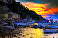 &ldquo;A mystical sunset above Marina Grande Sorrento&rdquo;&hellip;<br />