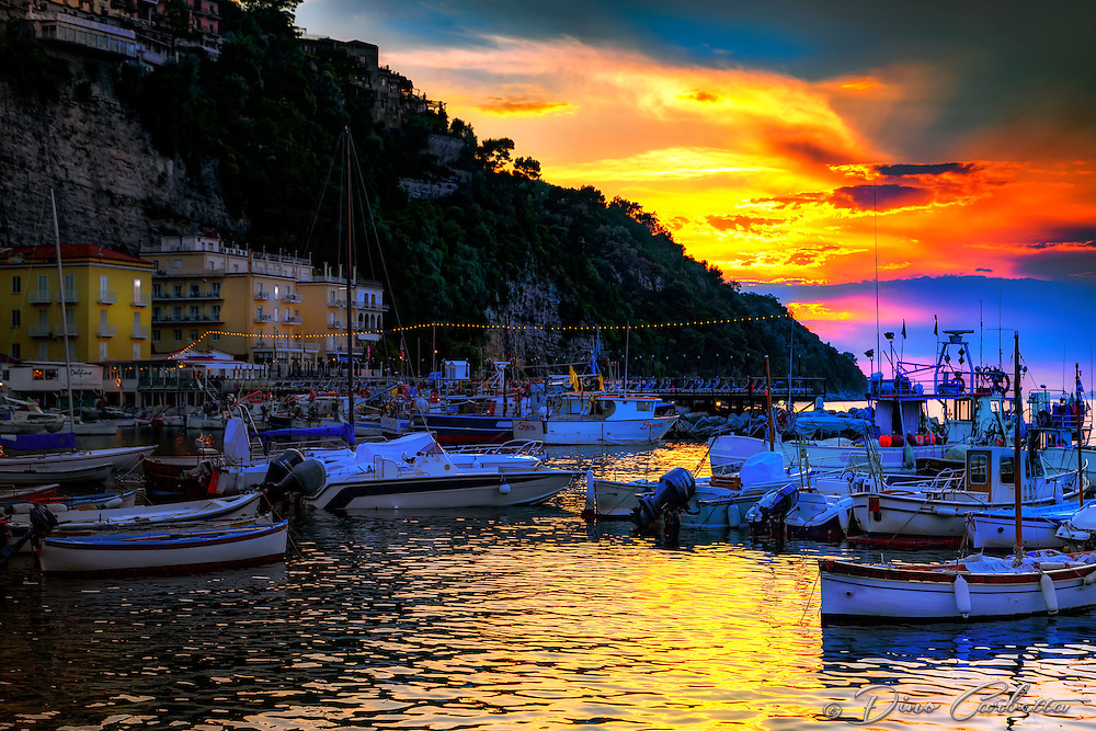 """A mystical sunset above Marina Grande Sorrento""…<br />