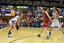 20 March 2010: Rachael Kutney sets up to screen Zoe Unruh for Miranda DeKuiper. The Flying Dutch of Hope College fall to the Bears of Washington University 65-59 in the Championship Game of the Division 3 Women's NCAA Basketball Championship the at the Shirk Center at Illinois Wesleyan in Bloomington Illinois.