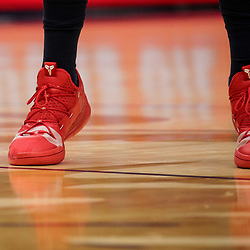 Oct 19, 2018; New Orleans, LA, USA; A detail of shoes worn by New Orleans Pelicans forward Anthony Davis during the first half at the Smoothie King Center. The Pelicans defeated the Kings 149-129. Mandatory Credit: Derick E. Hingle-USA TODAY Sports