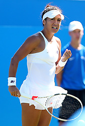 Great Britain's Heather Watson reacts during her match against Slovakia's Dominika Cibulkova during day four of the AEGON International at Devonshire Park, Eastbourne.