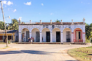 Building with arches in Punta de La Sierra, Pinar del Rio, Cuba.