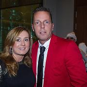 NLD/Rotterdam/20131216 - Society Lunch Silver Bells Christmas, Rob Geus en partner Suzanne Ozek