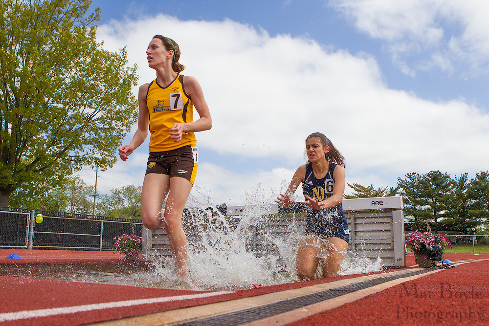 Rowan University's Christin Bettis competes in the women's 3000 meter steeplechase at the NJAC Track and Field Championships at Richard Wacker Stadium on the campus of  Rowan University  in Glassboro, NJ on Sunday May 5, 2013. (photo / Mat Boyle)