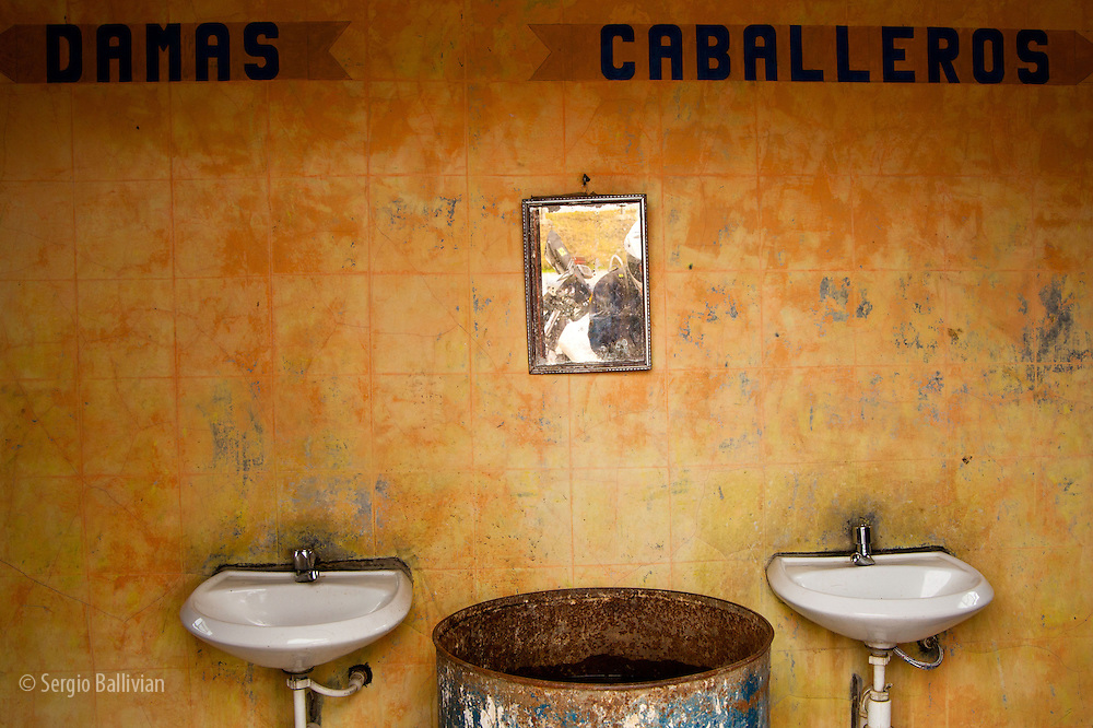 A still-life of a public bathroom in the Cordillera Real near La Paz, Bolivia.