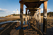 underneath pier towards PointLonsdale Lighthouse