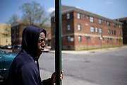 Baltimore, Maryland - April 21, 2015: Shawn Greene was friends with Freddie Gray. He is photographed in the West Baltimore neighborhood where Freddie Gray was detained by police, and suffered lethal injuries. <br /> <br /> CREDIT: Matt Roth for The New York Times<br /> Assignment ID: 30173645A