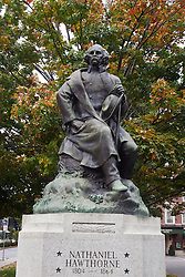 Statue of Nathaniel Hawthorne, Salem, Massachusetts, United States of America