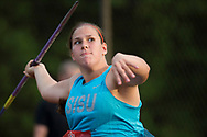 (Ottawa, Canada---07 July 2017) Ashley Prike throwing to a fourth place finish in the women's javelin at the 2017 Canadian Track and Field Championships. (Photo by Sean W Burges / Mundo Sport Images).