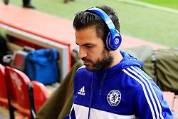 Chelsea's Cesc Fabregas arrives at Anfield wearing Beats by Dr Dre headphones  - Mandatory byline: Matt McNulty/JMP - 11/05/2016 - FOOTBALL - Anfield - Liverpool, England - Liverpool v Chelsea - Barclays Premier League