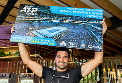 Damir Konjar at Trophy ceremony of RVO at Day 10 of ATP Challenger Zavarovalnica Sava Slovenia Open 2019, on August 18, 2019 in Sports centre, Portoroz/Portorose, Slovenia. Photo by Vid Ponikvar / Sportida