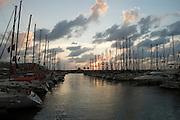 Herzliya Marina, Israel at sunset
