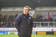 Micky Mellon Tranmere Rovers Manager  during the EFL Sky Bet League 1 match between Burton Albion and Tranmere Rovers at the Pirelli Stadium, Burton upon Trent, England on 26 December 2019.