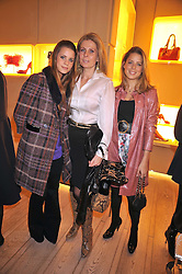 Left to right, LYDIA FORTE, LADY FORTE and IRENE FORTE at a reception in aid of Children in Crisis held at the Roger Vivier store, 188 Sloane Street, London on 19th March 2009.
