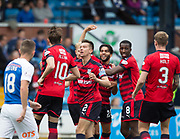 23rd September 2017, Rugby Park, Kilmarnock, Scotland; SPFL Premiership football, Kilmarnock versus Dundee; Dundee's Faissal El Bakhtaoui (number 20) elebrates after scoring