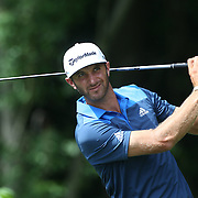 Dustin Johnson, USA, in action during the first round of the Travelers Championship at the TPC River Highlands, Cromwell, Connecticut, USA. 19th June 2014. Photo Tim Clayton