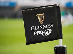A general view of Liberty Stadium, home of Ospreys banner, flag<br /> <br /> Photographer Simon King/Replay Images<br /> <br /> Guinness PRO14 Round 19 - Ospreys v Connacht - Friday 6th April 2018 - Liberty Stadium - Swansea<br /> <br /> World Copyright © Replay Images . All rights reserved. info@replayimages.co.uk - http://replayimages.co.uk