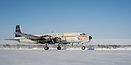 The Everts Air Fuel DC-6 'Spirit of America' takes off from Umiat on Wednesday, March 6, 2013.