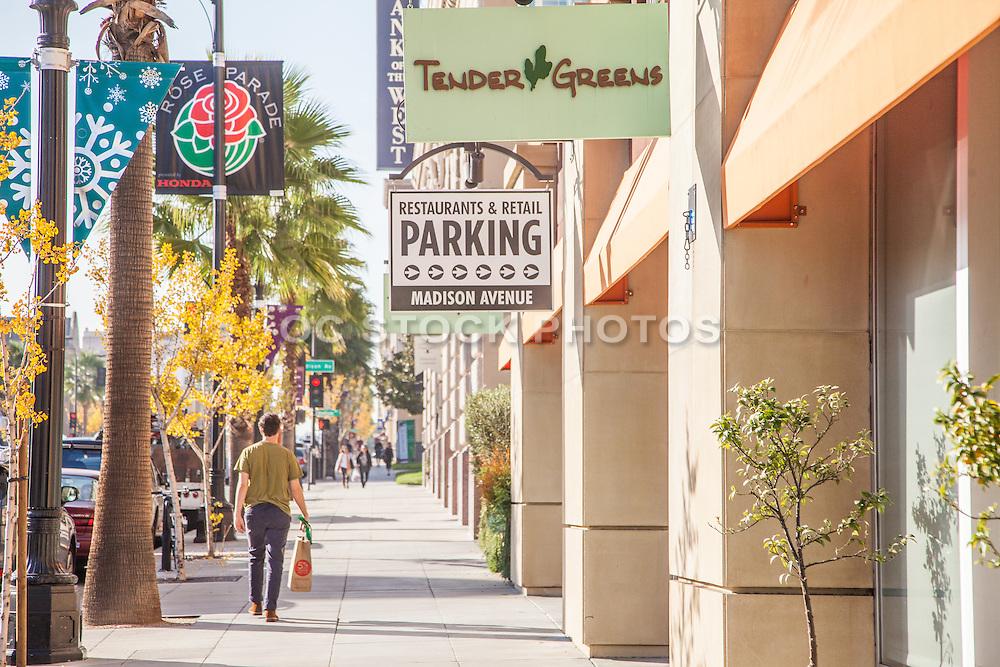 Walking Downtown Pasadena on Colorado Boulevard During Fall